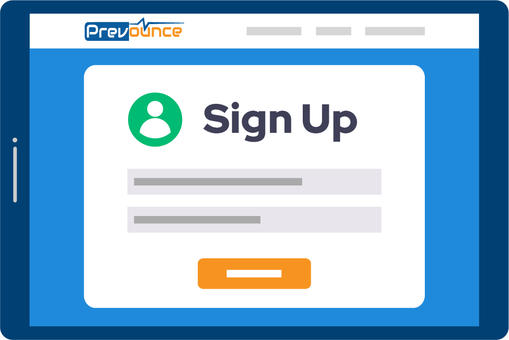 Sign Up with Prevounce