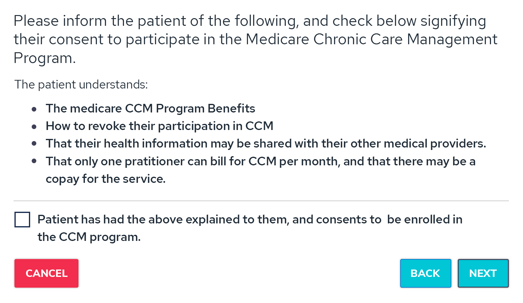 Chronic Care Management Compliance
